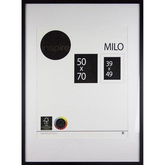 Cadre Milo, 50 x 70 cm, noir