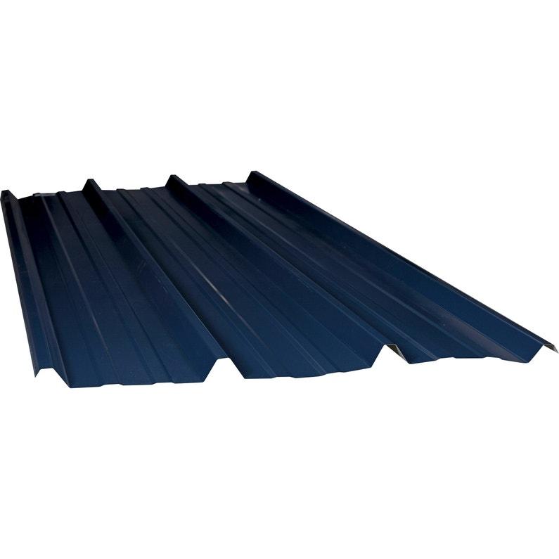 Plaque De Toiture Nervurée Acier Galvanisé Bleu L105 X L3 M Ondometal