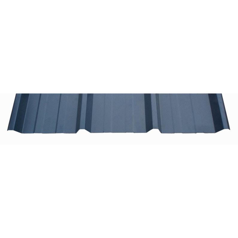 Plaque Régulée Nervurée Acier Galvanisé Bleu L105 X L2 M Ondometal