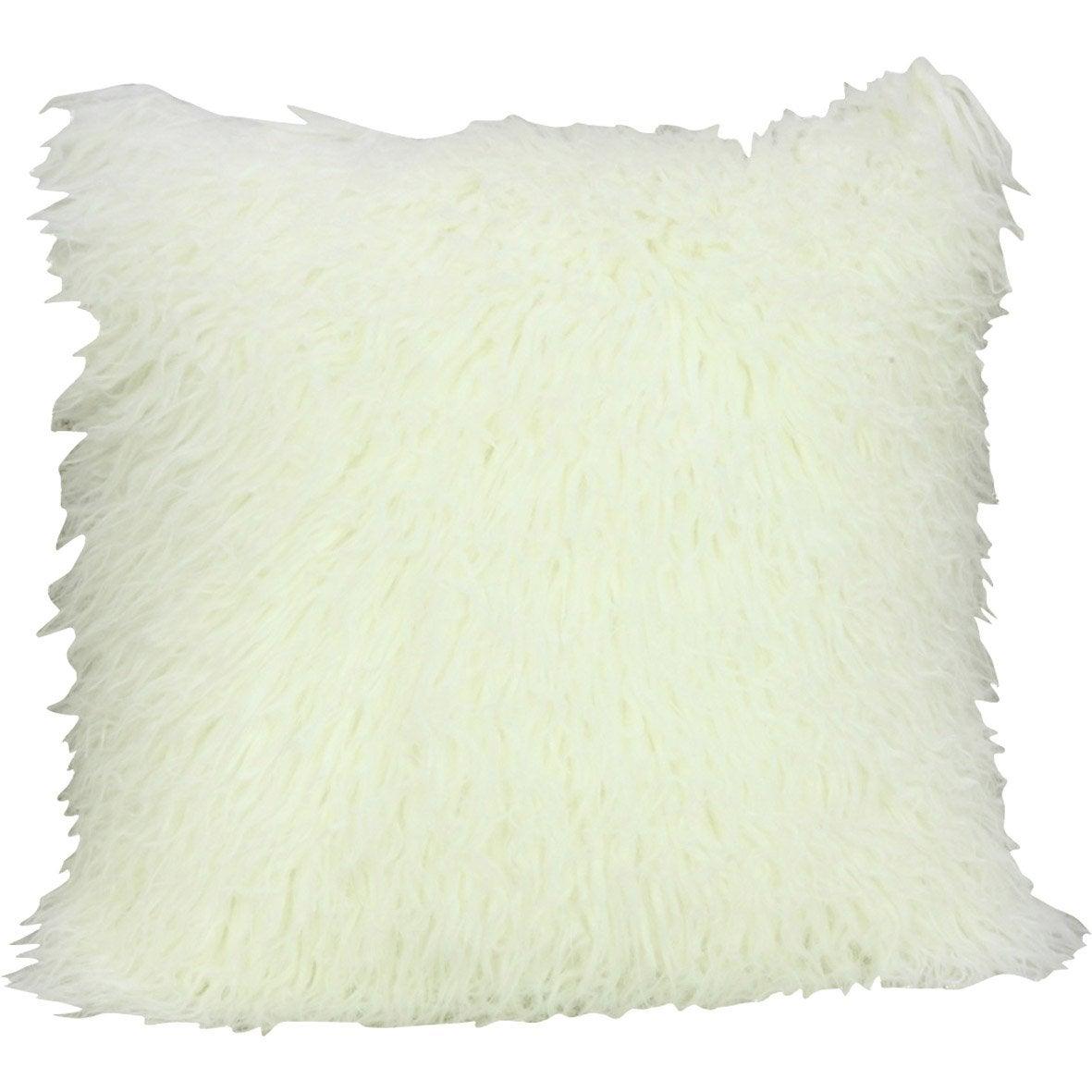 Coussin Dolma INSPIRE, blanc l.45 x H.45 cm