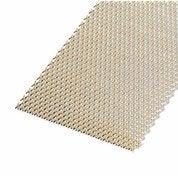Tôle aluminium perforée anodisé doré l.25 x L.50 cm Ep.1.6 mm