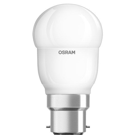 ampoule sph rique led 5 5w 470 lm quiv 40w b22 2700k osram leroy merlin. Black Bedroom Furniture Sets. Home Design Ideas