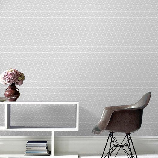 papier peint intiss triangolin gris leroy merlin. Black Bedroom Furniture Sets. Home Design Ideas