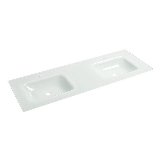 plan vasque double ice verre 136 cm leroy merlin. Black Bedroom Furniture Sets. Home Design Ideas
