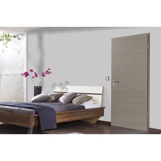 porte sans b ti mdf rev tu d cor ch ne fum londres. Black Bedroom Furniture Sets. Home Design Ideas
