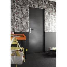 porte coulissante rev tu d cor ch ne gris londres 204 x 73 cm leroy merlin. Black Bedroom Furniture Sets. Home Design Ideas