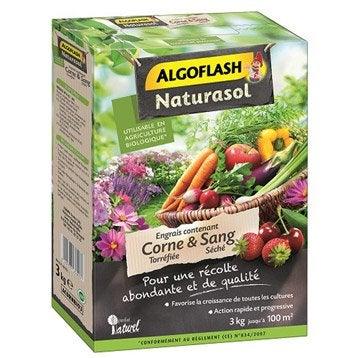 Engrais naturel potagers ALGOFLASH NATURASOL 3 kg 60 m²