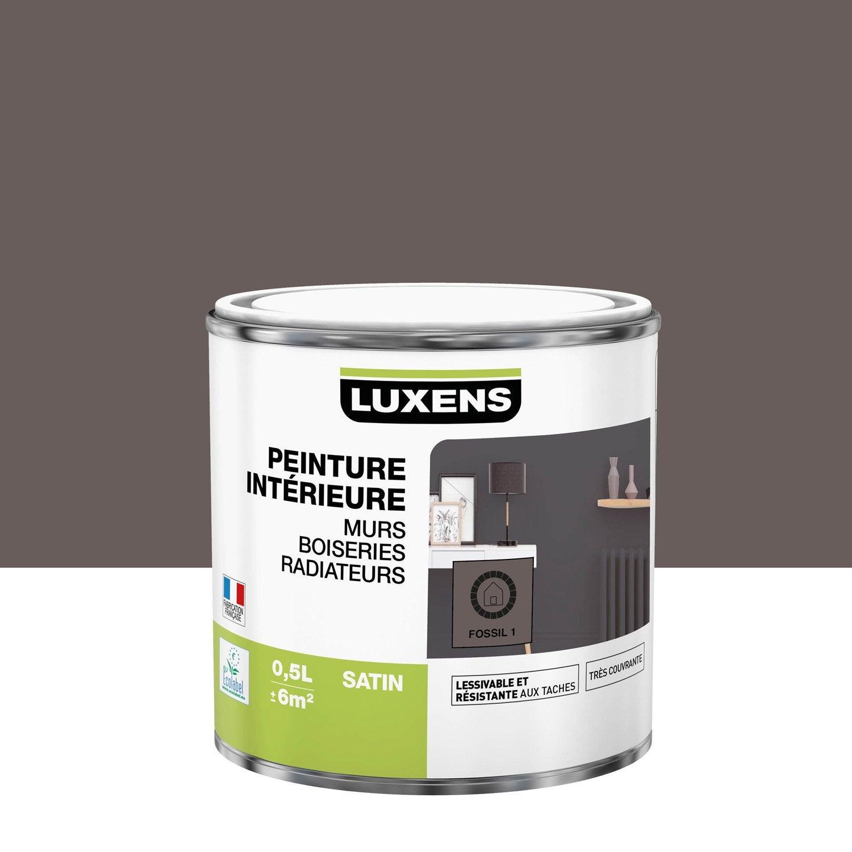 Peinture, mur, boiserie, radiateur, Multisupports LUXENS, fossil 1, satin, 0.5 l