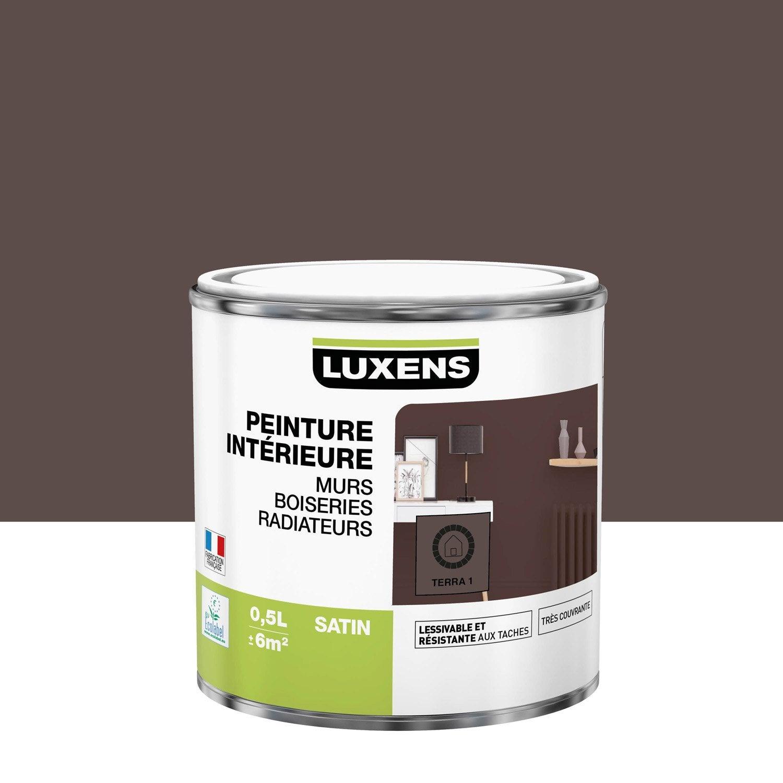 Peinture, mur, boiserie, radiateur, Multisupports LUXENS, terra 1, satiné, 0.5 l