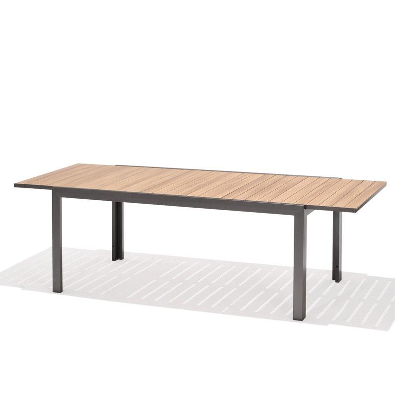 Table de jardin de repas Java rectangulaire gris cosmos / teck 8/10 ...