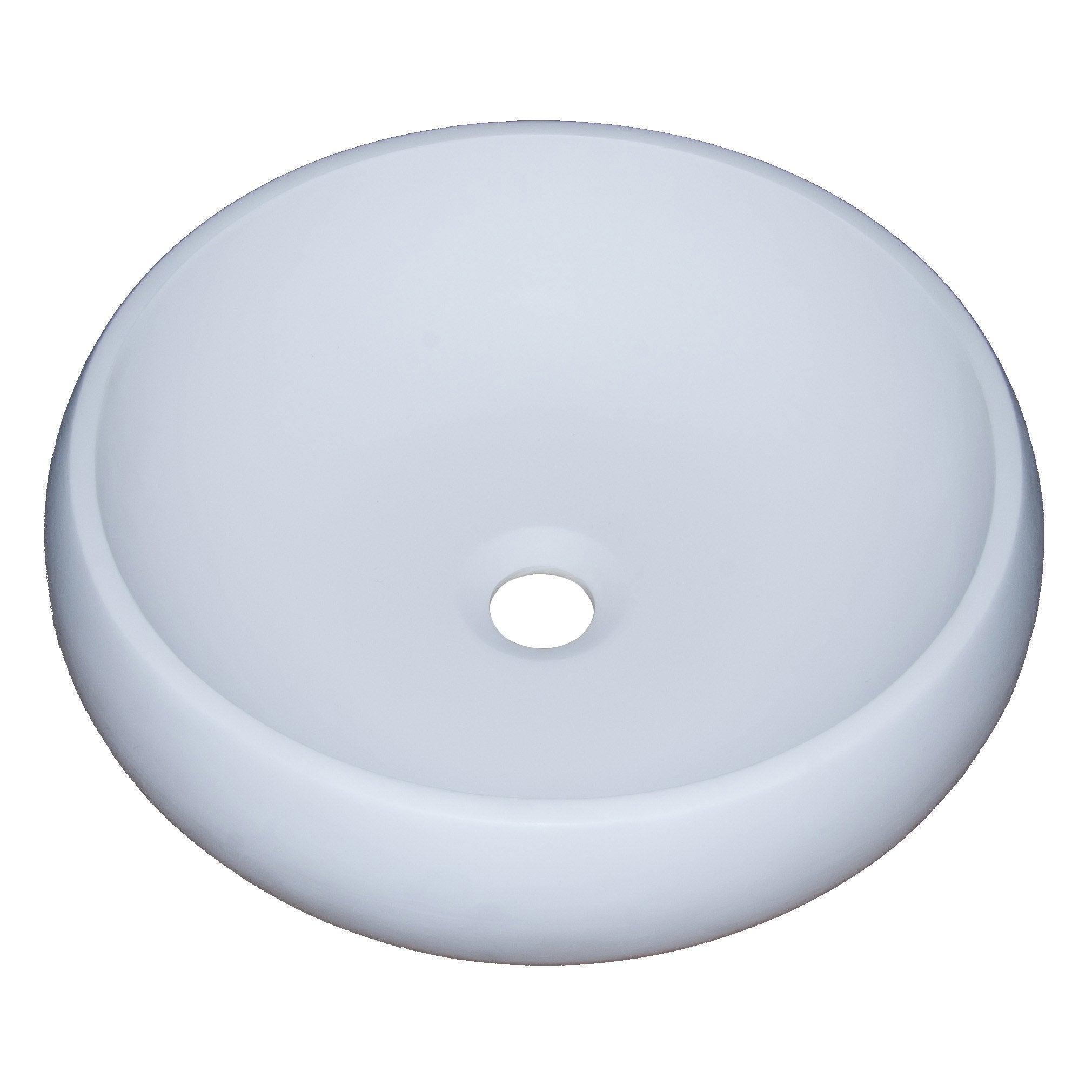 Vasque à poser résine de synthèse Diam.40 cm blanc Moon 40