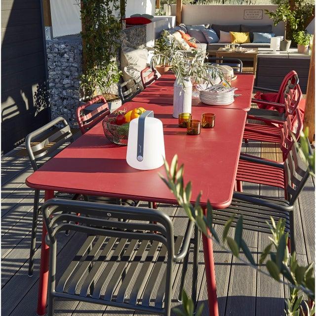 Table de jardin de repas Garden rectangulaire rouge 6 personnes