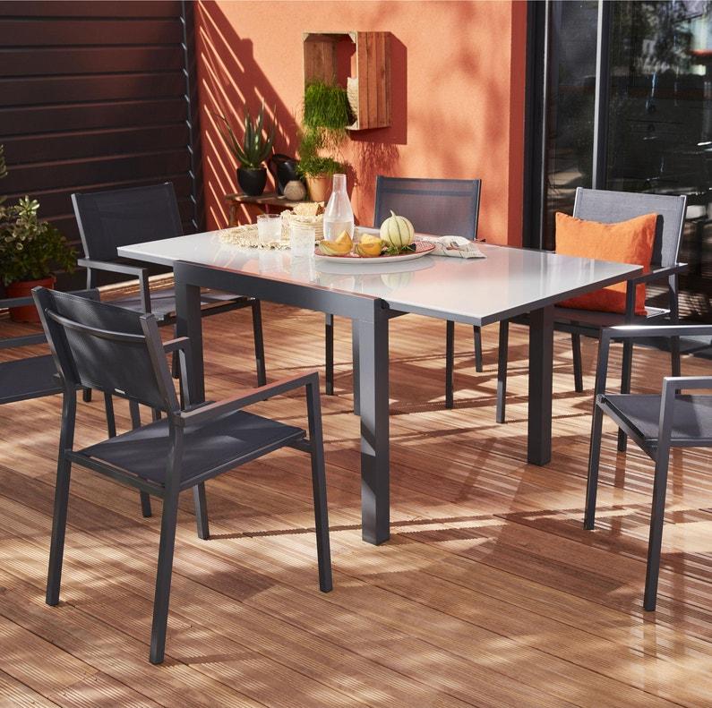 Table De Jardin De Repas Naterial Carree 4 A 8 Personnes Leroy