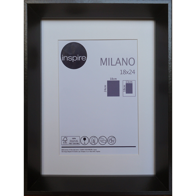 Cadre Milano, l.18 x H.24 cm, noir
