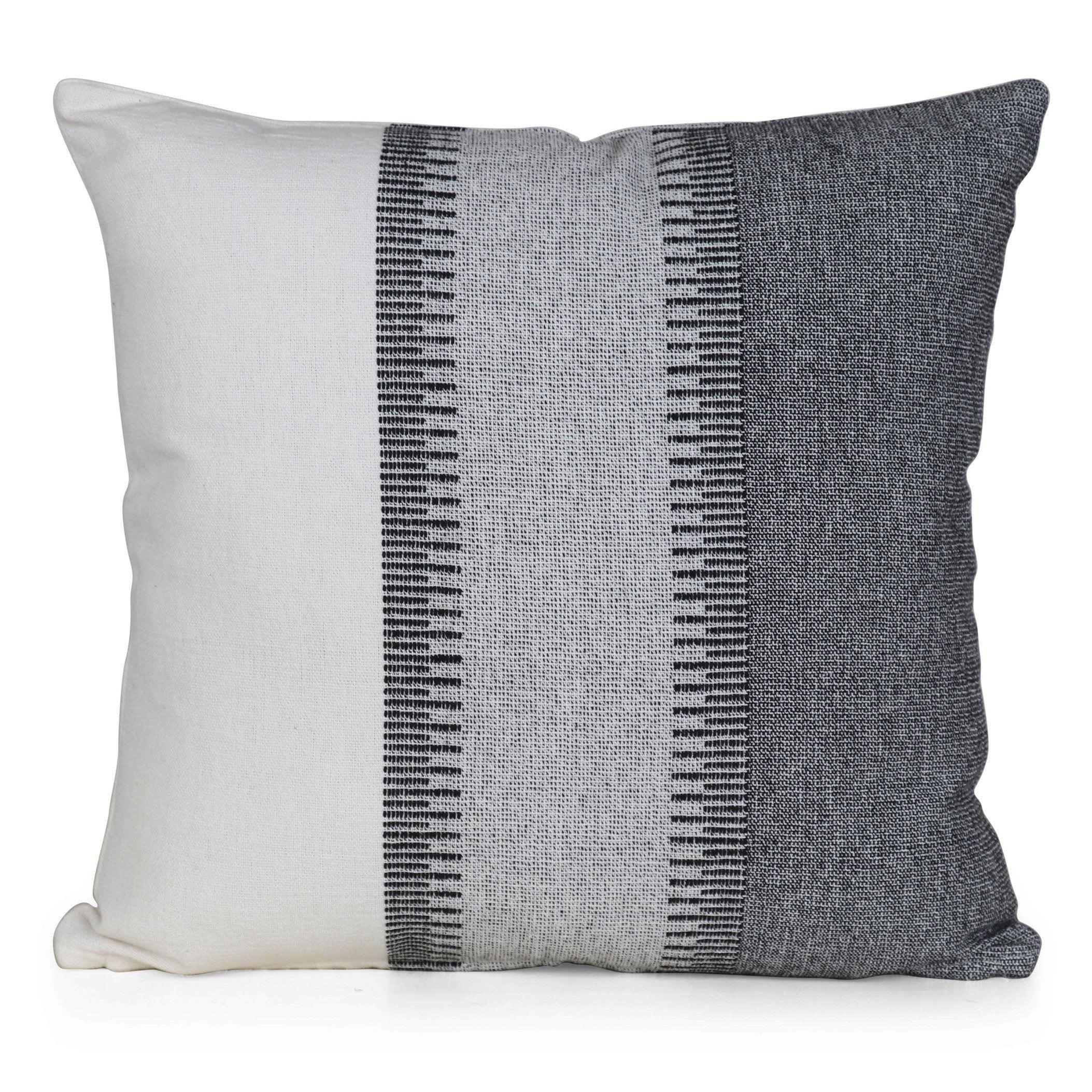 Coussin Ramiz INSPIRE, gris / blanc l.45 x H.45 cm