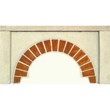 Façade en pierre reconstituée blanc et terre cuite, l.100 x L.19 x H.54 cm