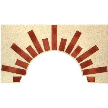 Façade en pierre reconstituée terre cuite Soleil n° 2, l.100 x L.5 x H.55 cm