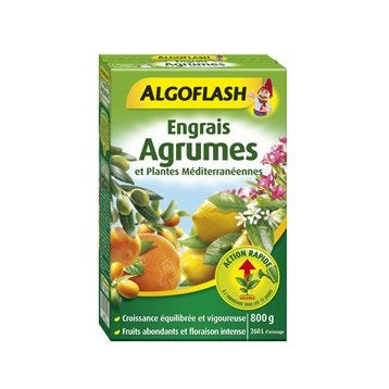 Engrais agrumes ALGOFLASH 800g 40 m²