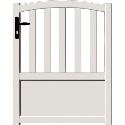 portillon battant loray x cm blanc leroy merlin. Black Bedroom Furniture Sets. Home Design Ideas