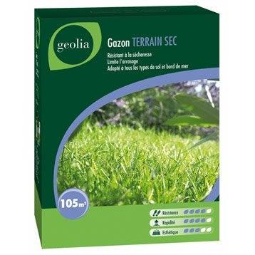 Gazon terrain sec GEOLIA 105 m²
