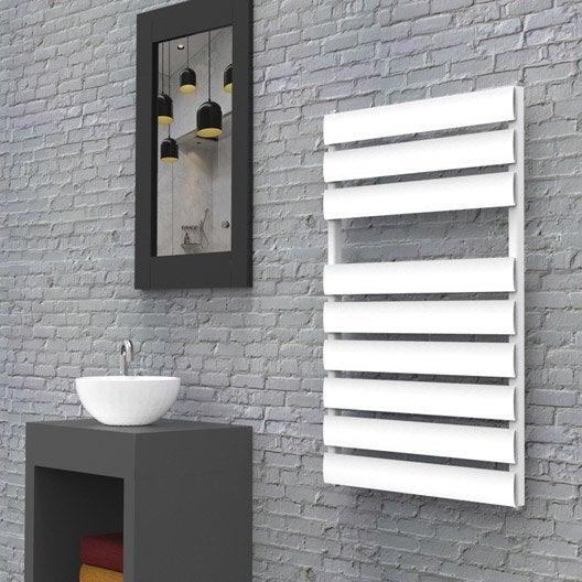 S che serviettes eau chaude aluminium hox modena 50 x 80 blanc mat blanc 398 - Leroy merlin seche serviette eau chaude ...