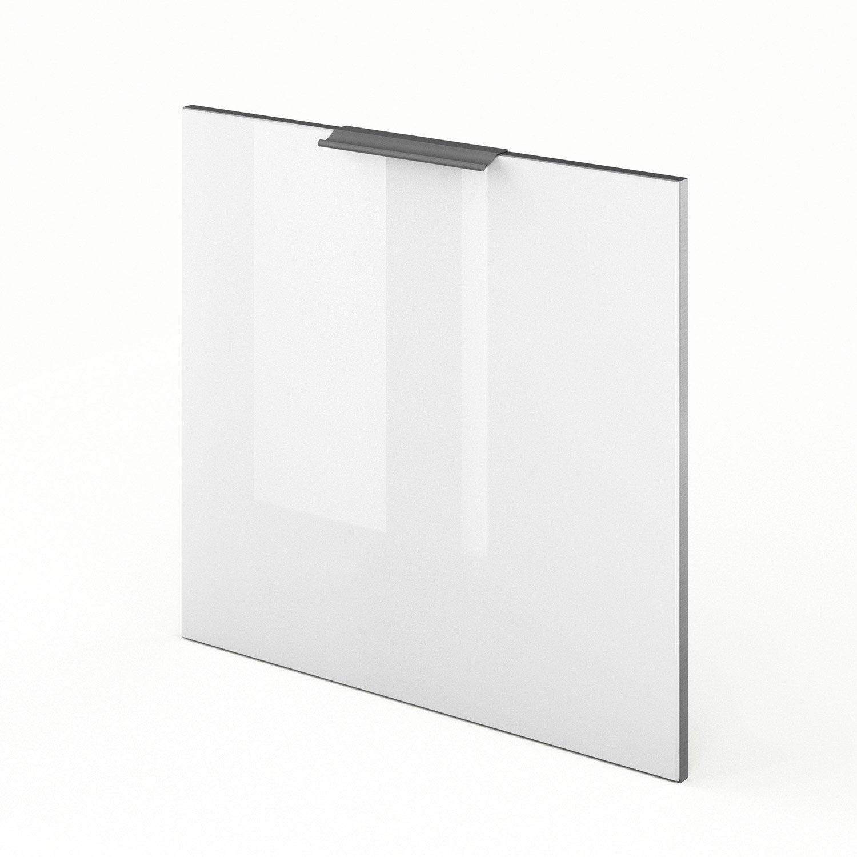 porte lave-vaisselle de cuisine blanc everest, l.60 x h.55 cm
