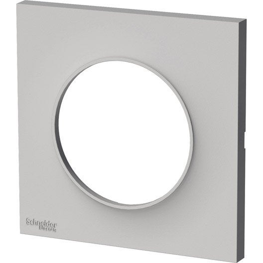 plaque simple odace schneider electric sable mat leroy merlin. Black Bedroom Furniture Sets. Home Design Ideas