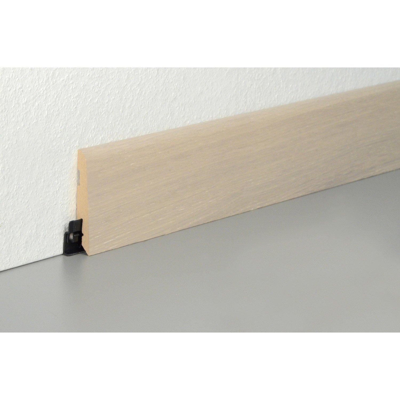 plinthe parquet effet ch ne gris clair cm x x mm leroy merlin. Black Bedroom Furniture Sets. Home Design Ideas
