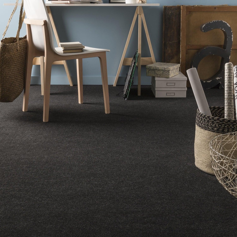 moquette boucl e step anthracite 4 m leroy merlin. Black Bedroom Furniture Sets. Home Design Ideas