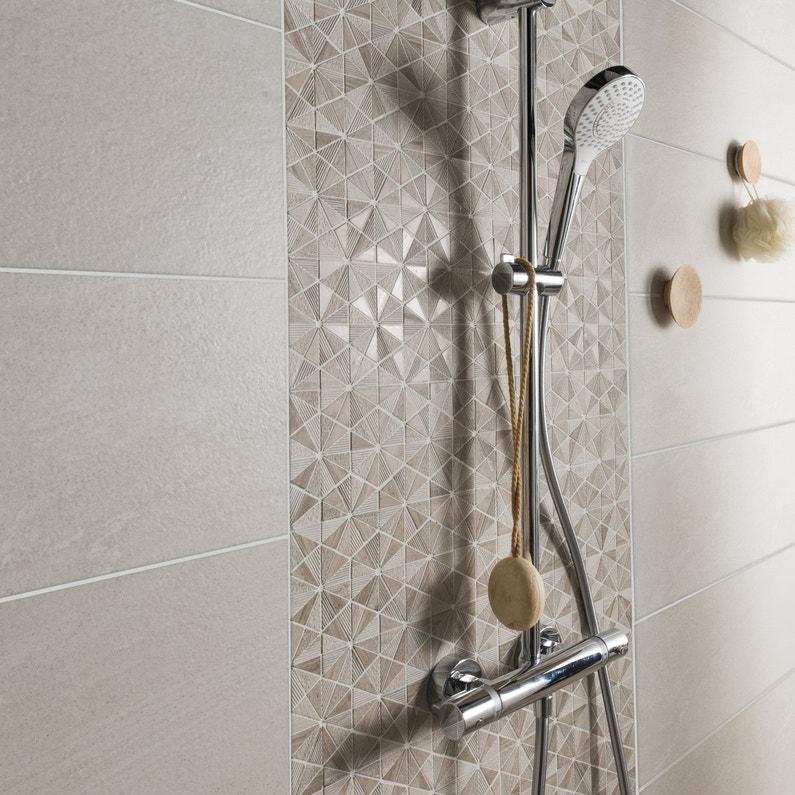 Une mosa que effet bois style origami leroy merlin - Mosaique leroy merlin salle de bain ...