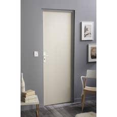 porte coulissante isoplane primo x cm leroy merlin. Black Bedroom Furniture Sets. Home Design Ideas
