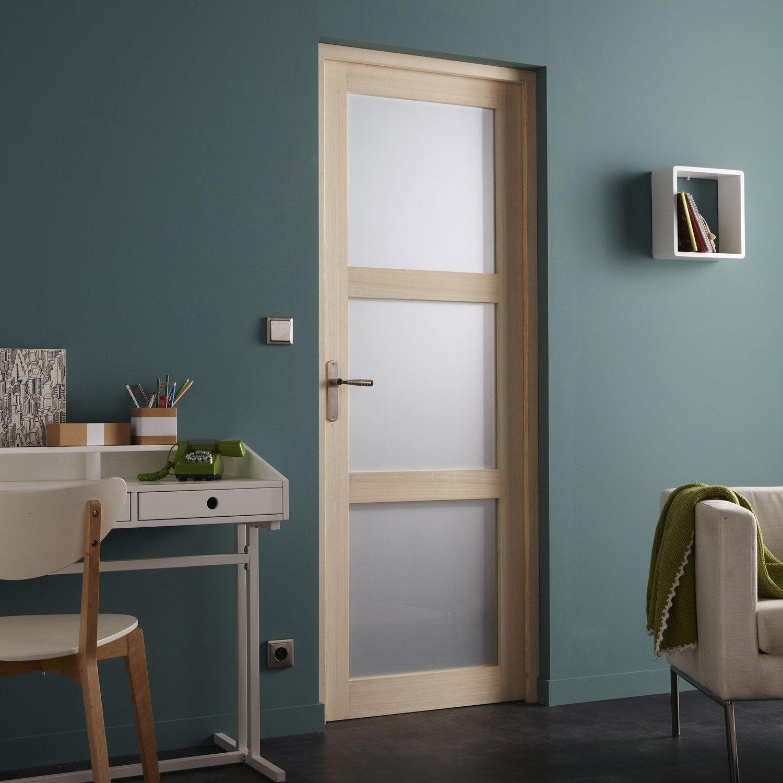 kit porte int rieure vitr e x s rie chez leroy. Black Bedroom Furniture Sets. Home Design Ideas