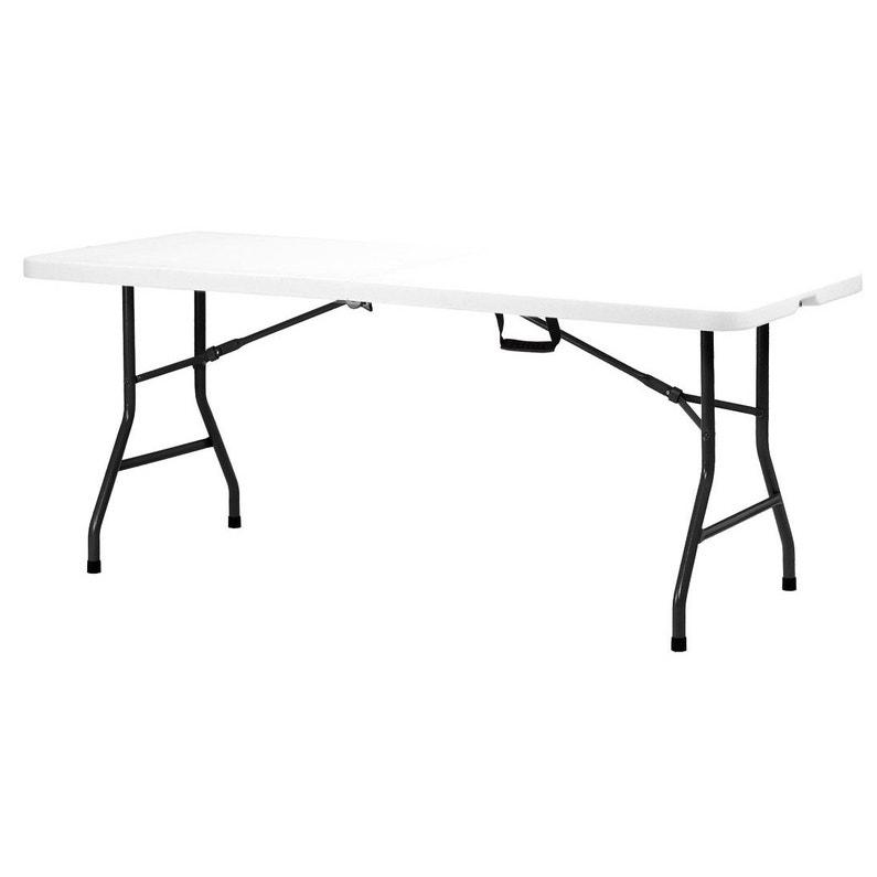 Table de jardin de repas Fiesta rectangulaire blanc 6 personnes
