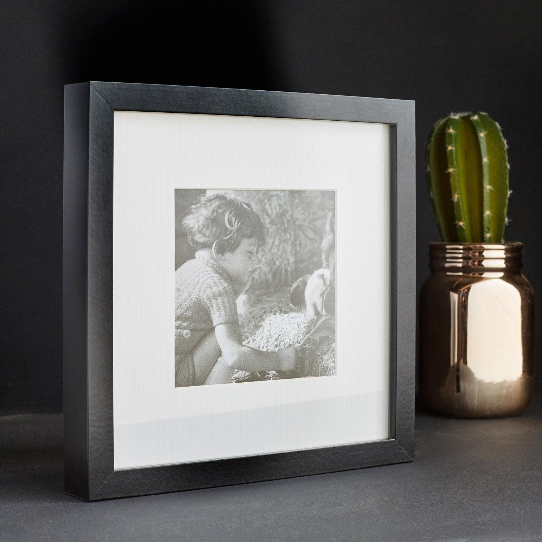 cadre milo 50 x 50 cm noir leroy merlin. Black Bedroom Furniture Sets. Home Design Ideas