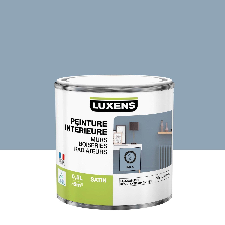 Peinture mur, boiserie, radiateur intérieur Multisupports LUXENS, ink 5, satin,