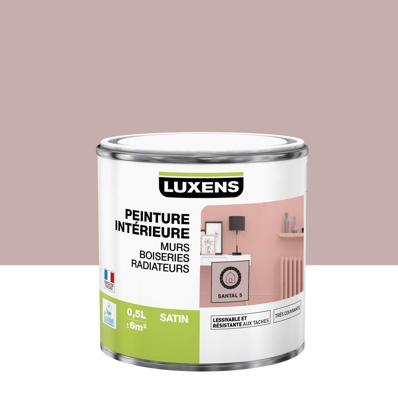 Peinture mur, boiserie, radiateur Multisupports LUXENS, santal 5, 0.5 l, satin