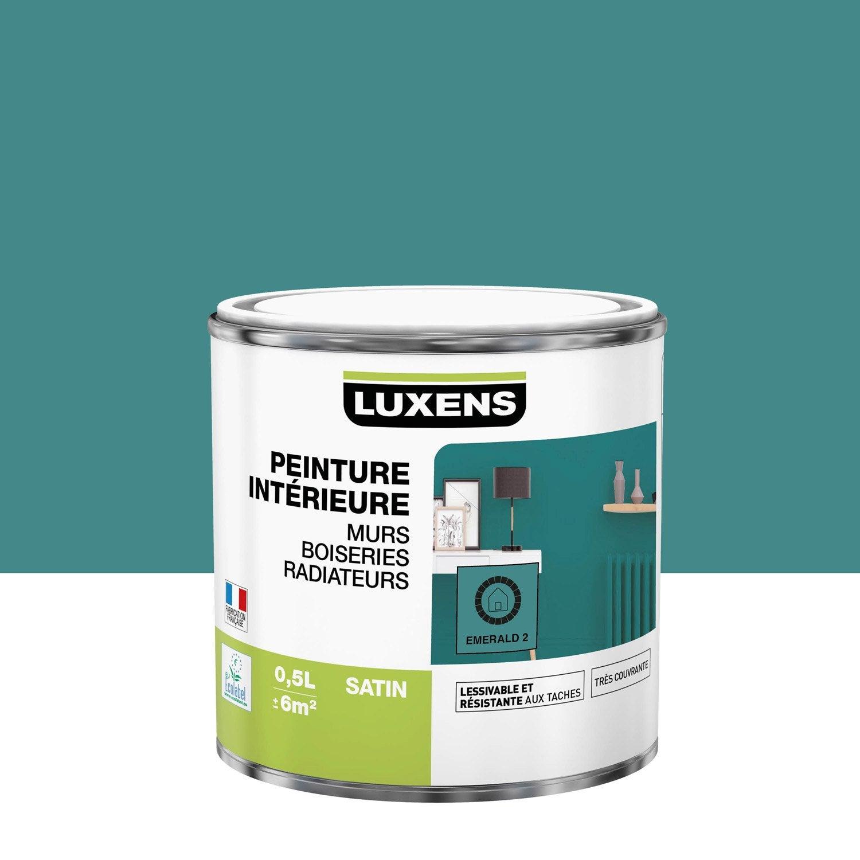 Peinture mur, boiserie, radiateur Multisupports LUXENS, emerald 2, 0.5 l, satin
