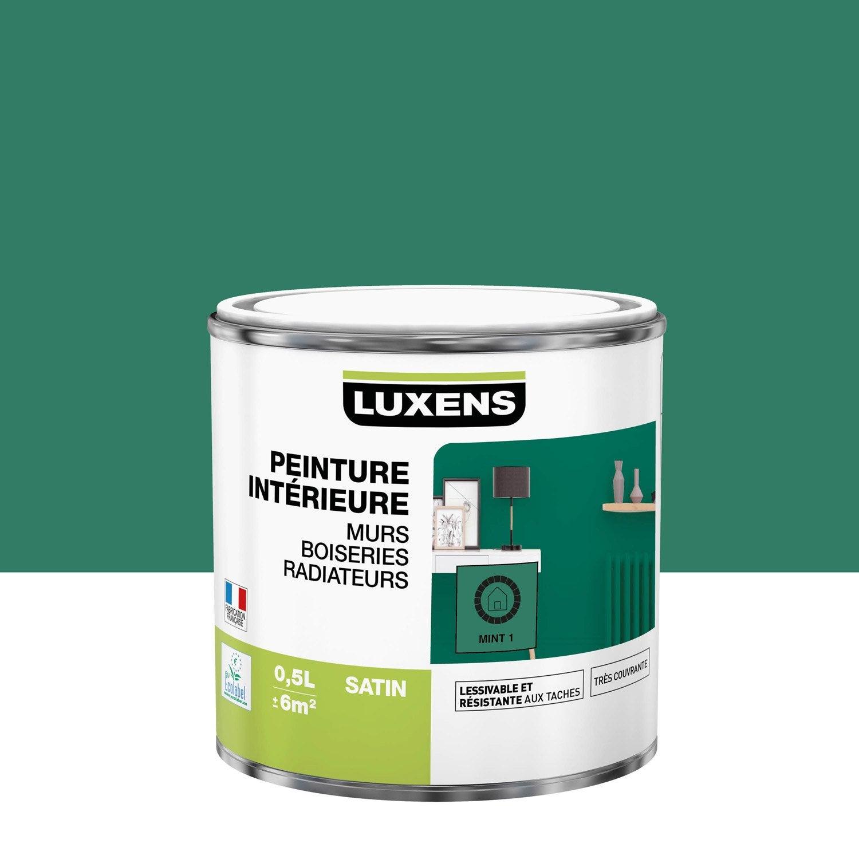 Peinture mur, boiserie, radiateur Multisupports LUXENS mint 1 satiné 0.5 l