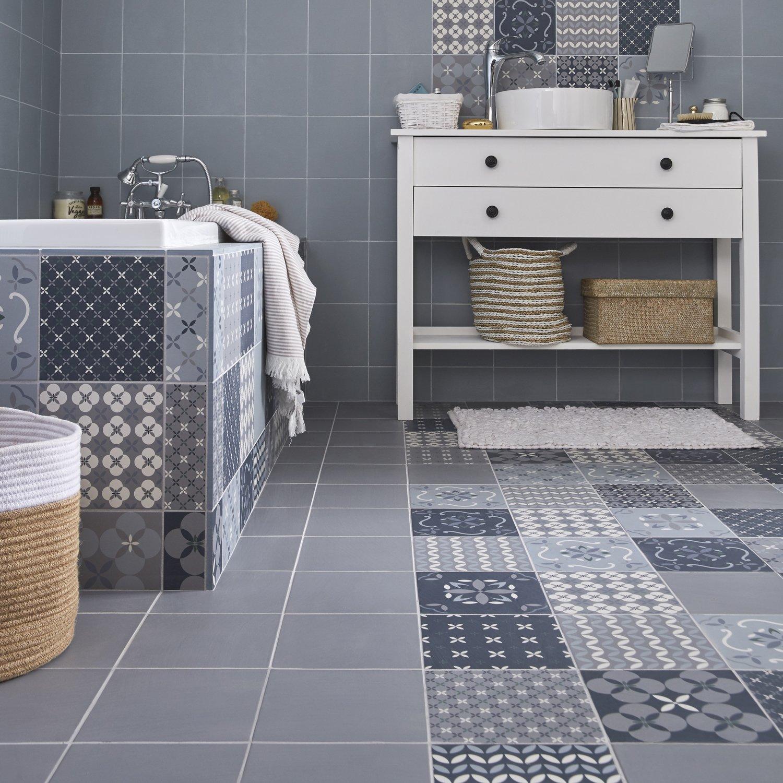 Tapis Effet Carreaux De Ciment des carreaux de ciment sous forme de tapis | leroy merlin