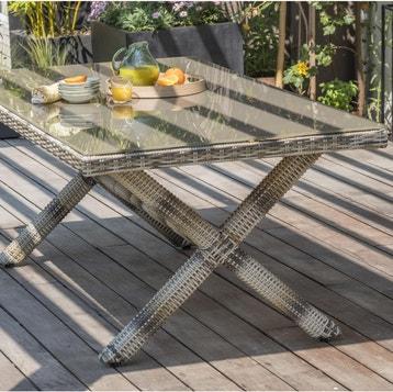Table Et Chaise De Jardin Resine Tressee Gris au meilleur ...
