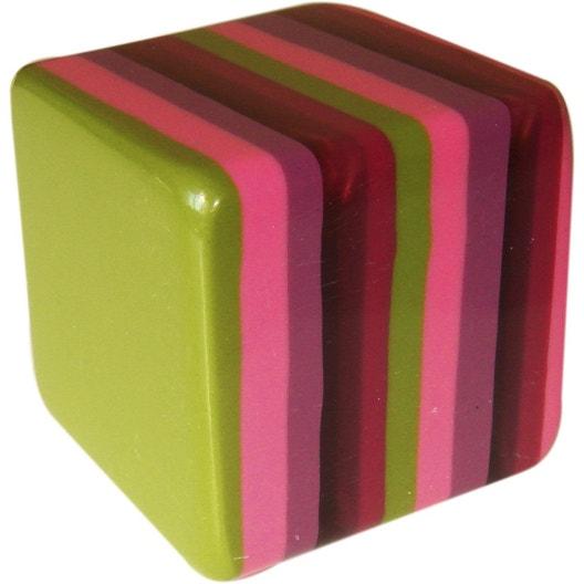 bouton de meuble cube rsine polyester poli