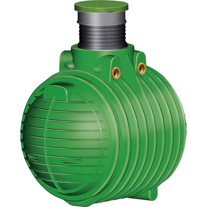 Cuve De Récupération D Eau De Pluie Avec Panier Filtrant Vert 1600 L Garantia