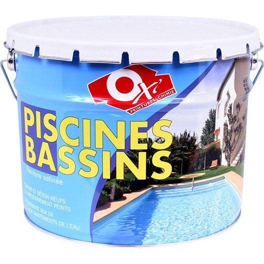Peinture piscine et bassin ext rieur oxytol blanc 10 l for Peinture pour pvc exterieur