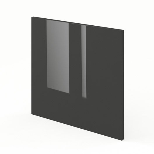 porte pour lave-vaisselle de cuisine gris rio, l.60 x h.55 cm