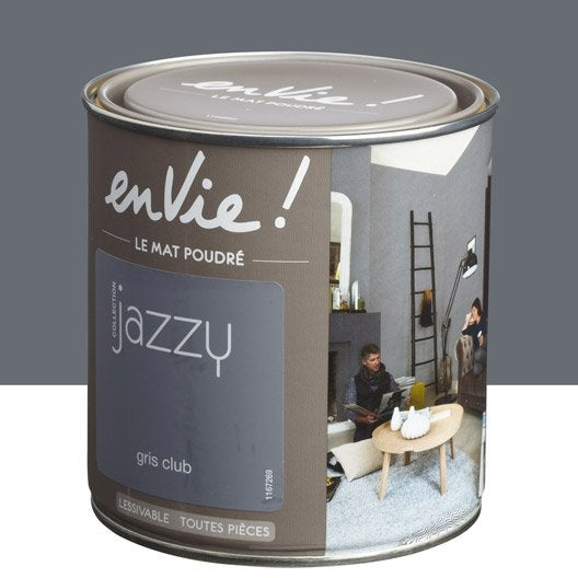 Peinture gris club luxens envie collection jazzy 0 5 l - Club leroy merlin ...