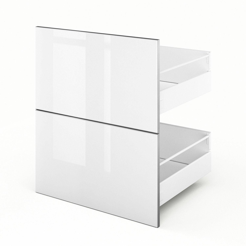 2 tiroirs de cuisine blanc Everest, L.60 x H.70 x P.55 cm