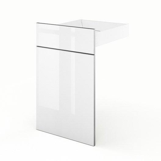 good porte et tiroir de cuisine blanc everest l x h x with. Black Bedroom Furniture Sets. Home Design Ideas