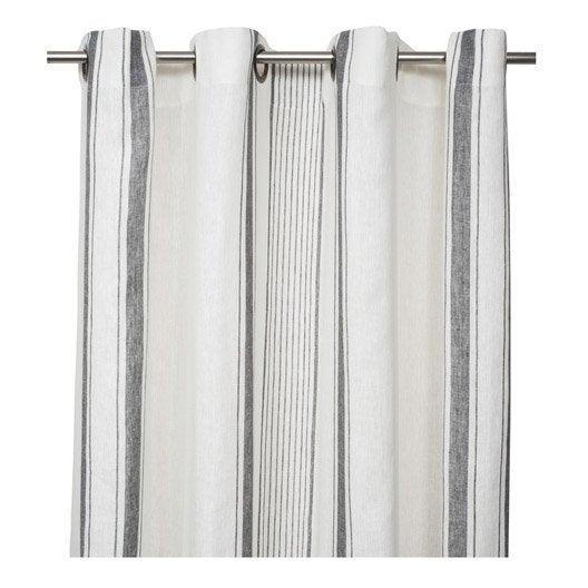 rideau blanc gris. Black Bedroom Furniture Sets. Home Design Ideas