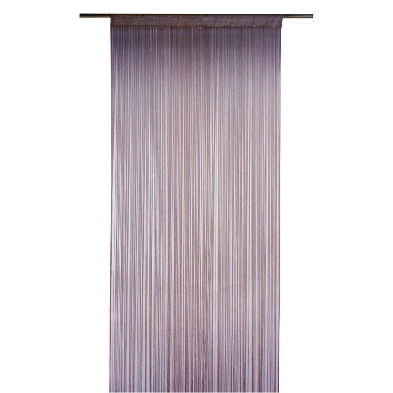 Rideau tamisant, Spaghetti, prune, l.90 x H.250 cm INSPIRE | Leroy ...