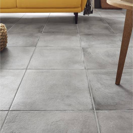 carrelage sol gris effet b ton x cm leroy merlin. Black Bedroom Furniture Sets. Home Design Ideas